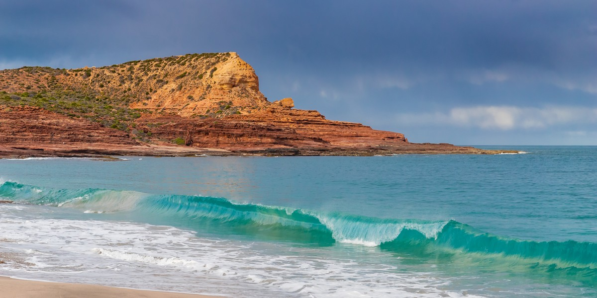 Red Bluff Wave Pano